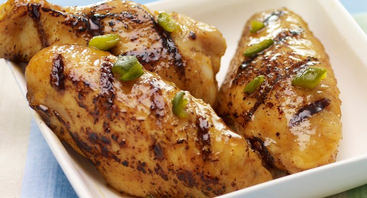 """GRILLED STICKY WINGS WITH ORANGE AND JALAPENO RECIPE: ~ From: """"McCORMICK KITCHENS.COM""""; ~ Prep.Time: 10 min; Cook Time: 25 min. *** These finger licking wings are glazed with a mixture of honey, orange juice and grilled jalapenos."""