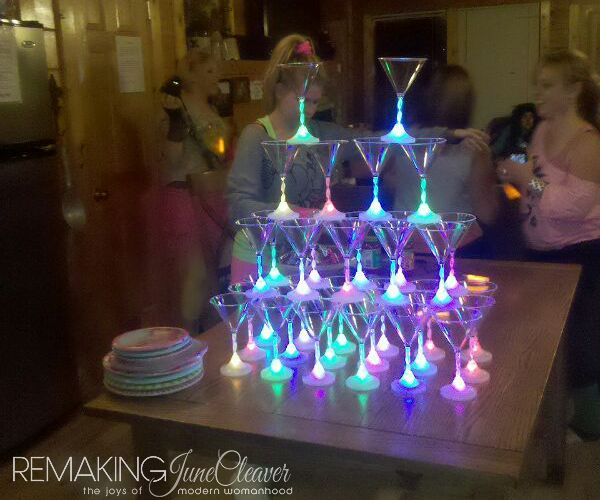 Tower Of LED Color Changing Martini Glasses! Like, Totally