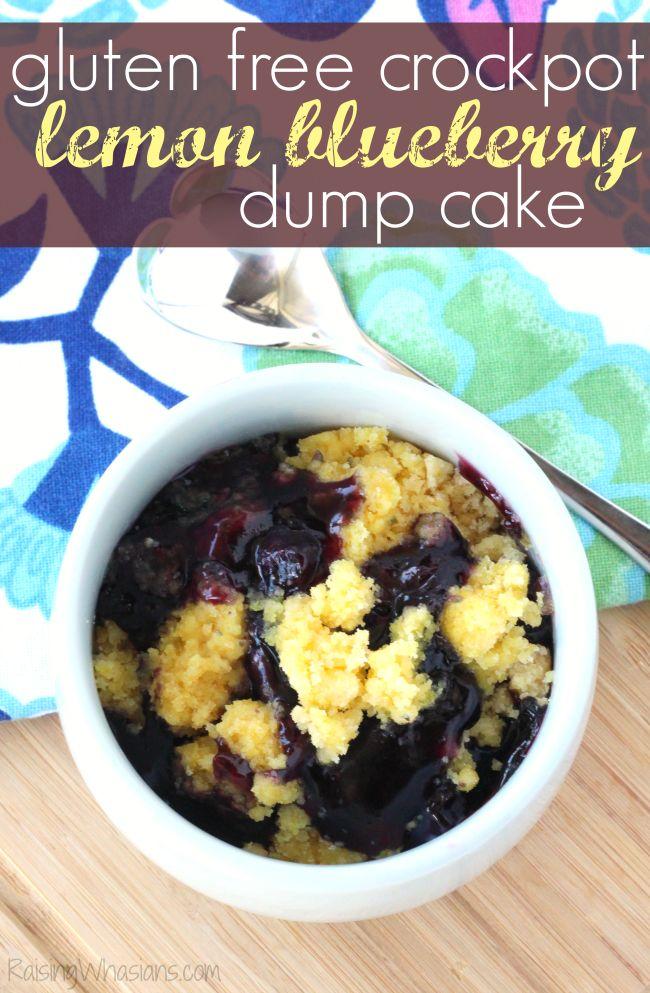 Gluten Free Crockpot Lemon Blueberry Dump Cake