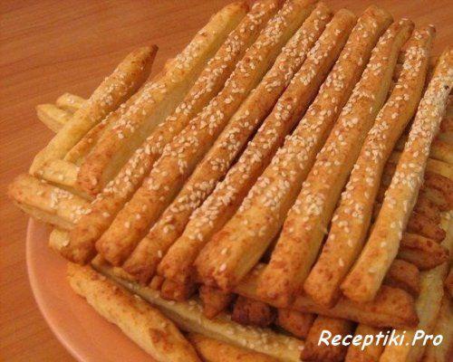 Рецепт сырной соломки, сырные палочки