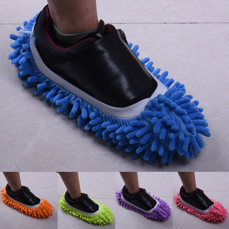 1 pcs New Arrival Multifunctional Chenille Micro Fiber Shoe Covers Clean Slippers Lazy Drag Shoe Mop Caps Household Tools