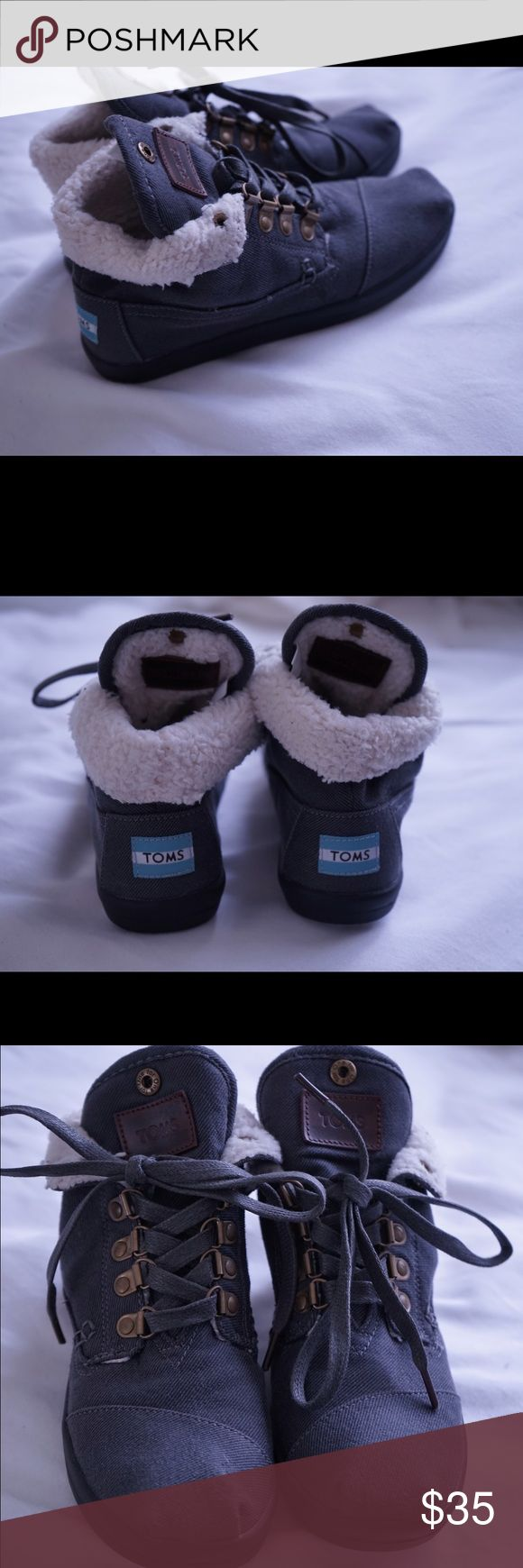 Toms Botas Fur Lined Boots Toms Botas Fur Lined Lace Up Boots TOMS Shoes Ankle Boots & Booties