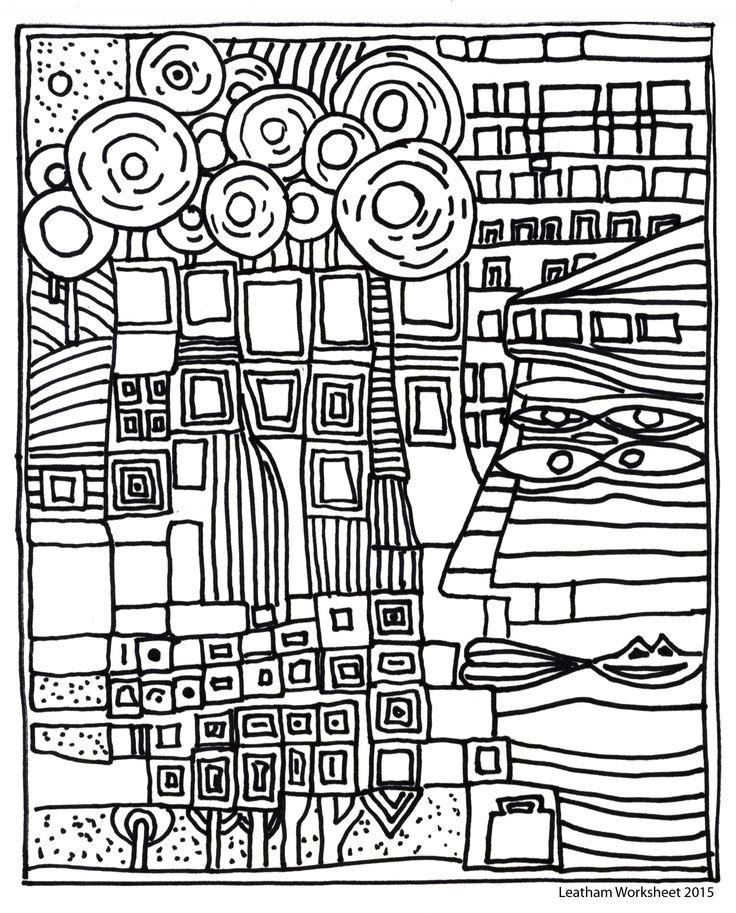 Hundertwasser Style line art. Feel free to use it.