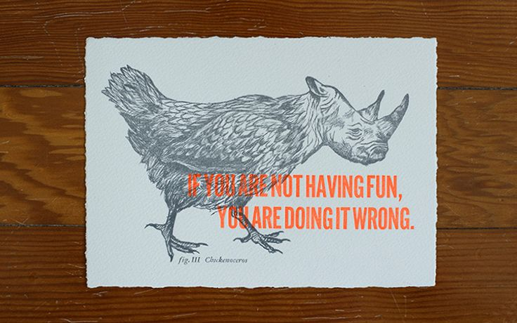 Chickenoceros / etching & postcard by Cecilia Hedin. via FPO #postcard #letterpress #etching