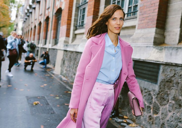 Aymeline Valade in a Valentino coat
