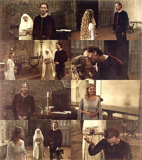 """More of Harry and Kate. The greatest speed date in literature. """"Come, your answer in broken music; for thy voice is music and thy English broken; therefore, queen of all, Katharine, break thy mind to me in broken English. Wilt thou have me?"""" (Henry V. Act 5, Scene 2)"""