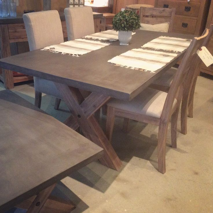 190cm dining table and choice of timber or linen chairs