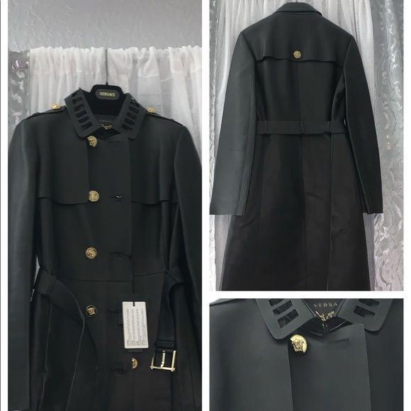 401216763f4e Women s Versace Coat Black Women s Versace Coat. Euro size 42. Gold  buttons. Versace Jackets   Coats Trench Coats