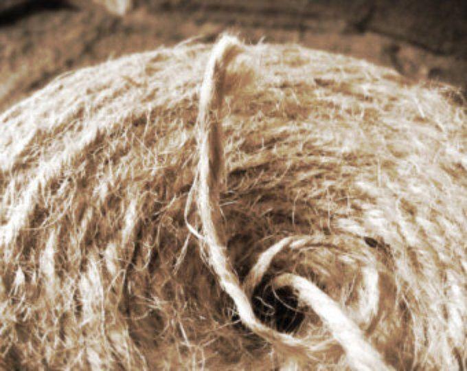 Seleccione longitud yute Natural hilo cinta rústica hilo marrón 2.5mm 2Ply Vintage Navidad