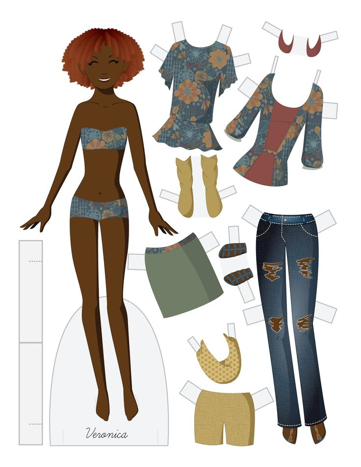 (⑅ ॣ•͈ᴗ•͈ ॣ)                                                                 ✄Veronica - vector fashion paper doll