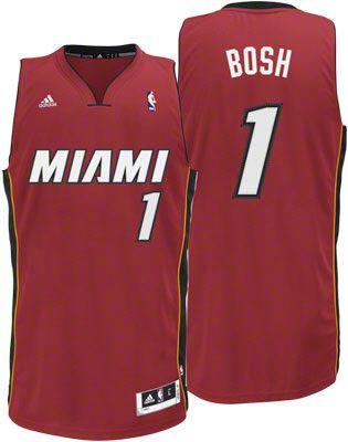 Miami Heat Chris Bosh 1 Red Authentic NBA Jersey Sale