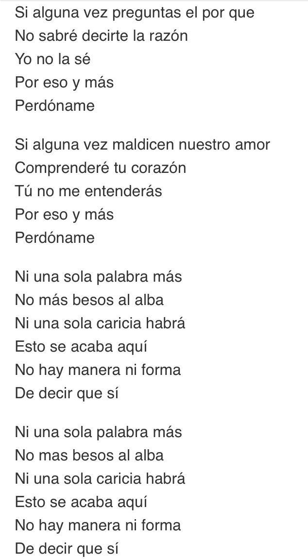 Ni una sola palabra más / perdóname - Pablo Alborán