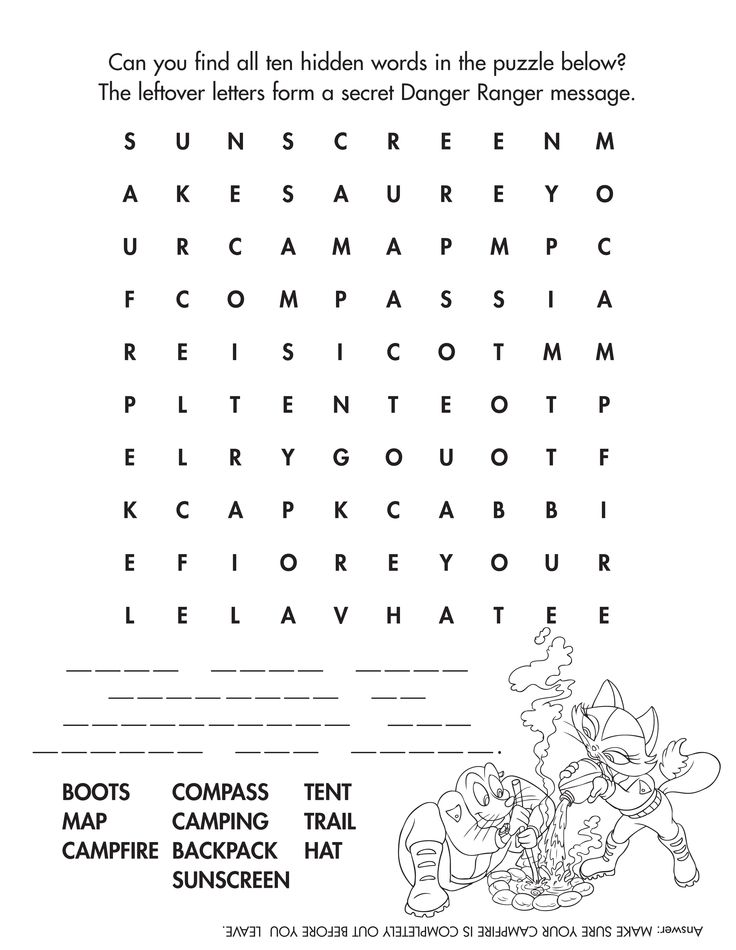 Camping word find #camping #kidactivities