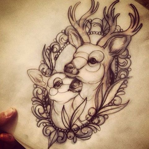 #deertattoo #frametattoo #tattooflash #tattoosketch