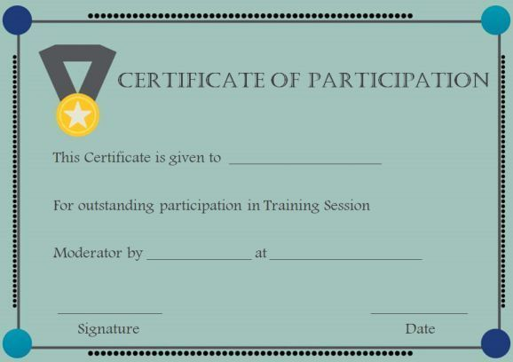 Training Participation Certificate #personaltraining