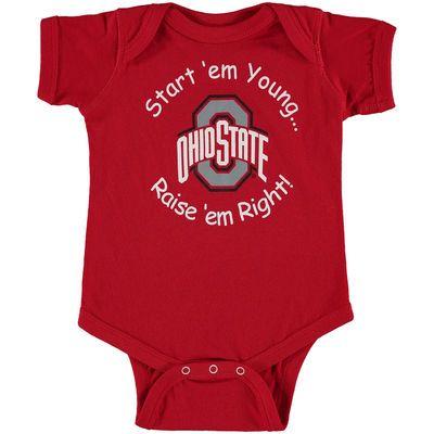 Ohio State Buckeyes Newborn & Infant Start 'Em Young Bodysuit - Scarlet