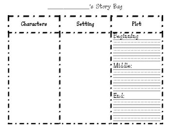 Want a good way to check you're students comprehension after they read a story? Place this tri-fold in a paperbag (story bag) and let them write yo...