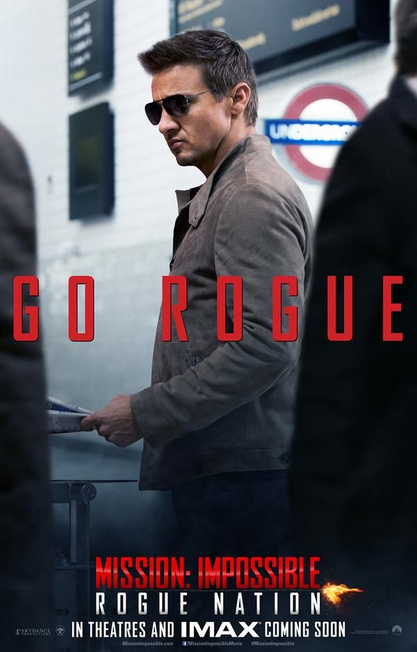 Jeremy Renner - Mission Impossible RogueNation Poster- Good movie.