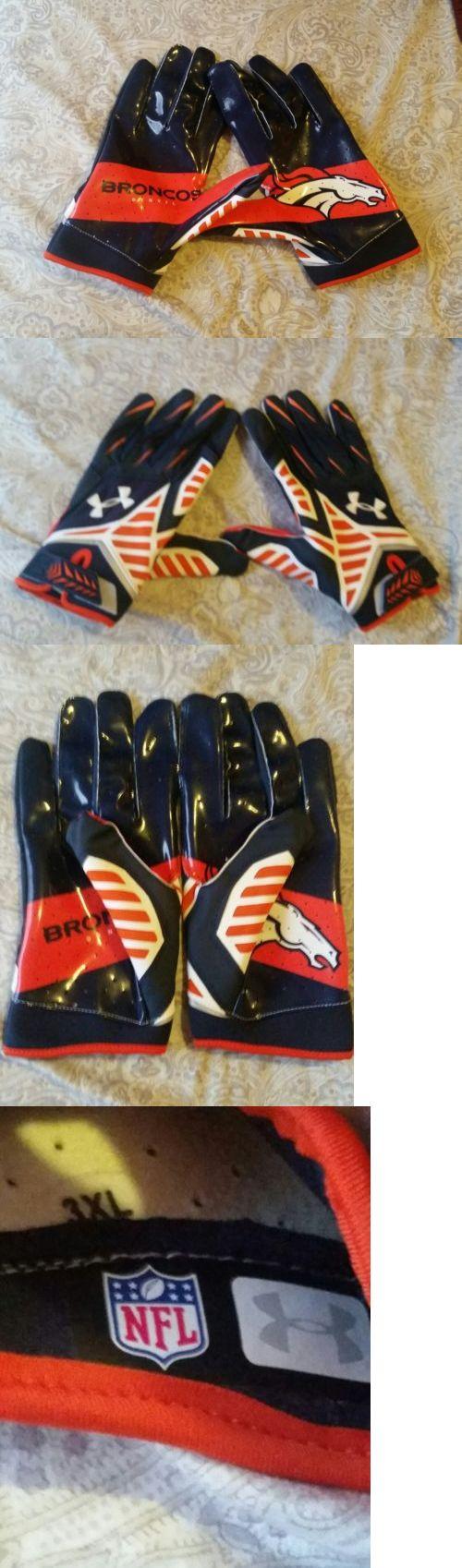 Gloves 159114: Under Armour Nitro Football Gloves Nfl Denver Broncos -> BUY IT NOW ONLY: $30 on eBay!