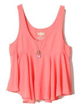 Pink Sleeveless Ruffles Chiffon Vest - Sheinside.com