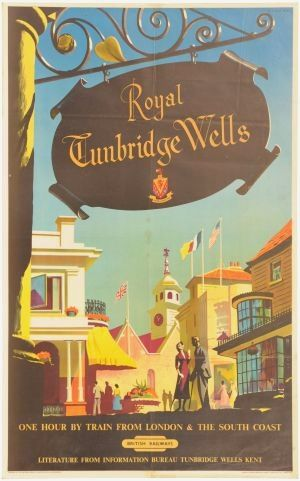Alan Durman Tunbridge wells british railways poster 1950s