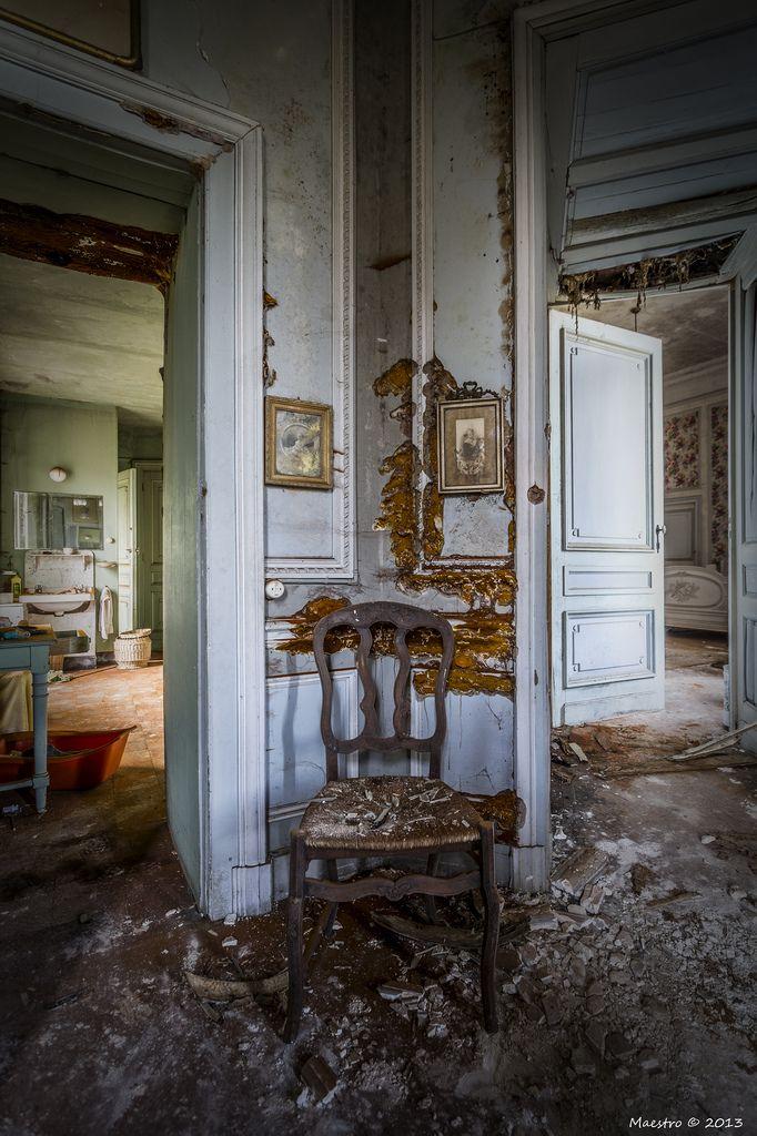* The abandoned Château de la Forêt or Castle Moulbaix, Moulbaix, Arrondissement of Ath, Belgium.
