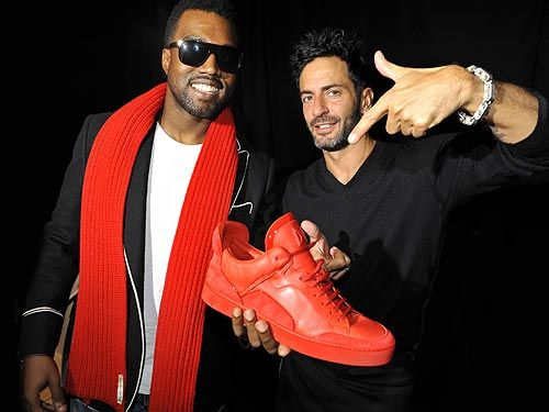 // Kanye West an Marc Jacobs for the runway of the Luis Vuitton Sneaker //