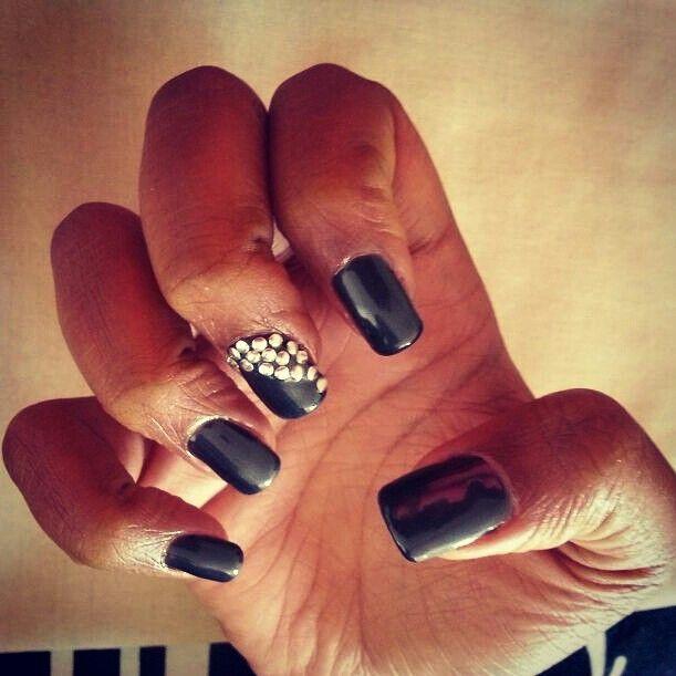 Black diamante