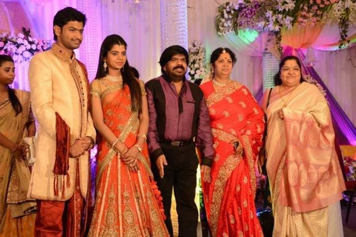 K. S. Chithra at Simbu Sister Marriage Reception