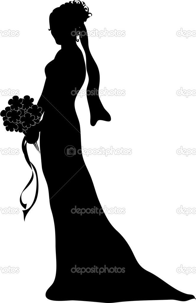 wedding bouquet silhouette - Google Search | Well Groomed ...