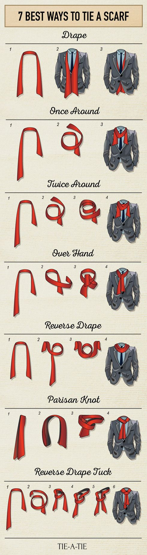How to Tie a Scarf in Menswear - The 7 Best Ways to Tie a Men's Scarf ---> https://goo.gl/gJdiXV