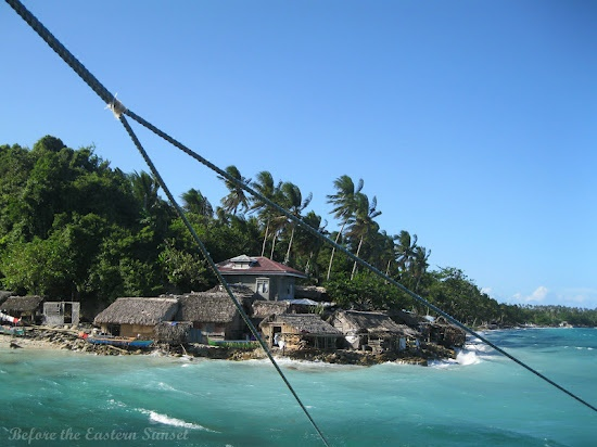 Small village braving the strong winds and waves at the southernmost tip of Ticao Island, Masbate.
