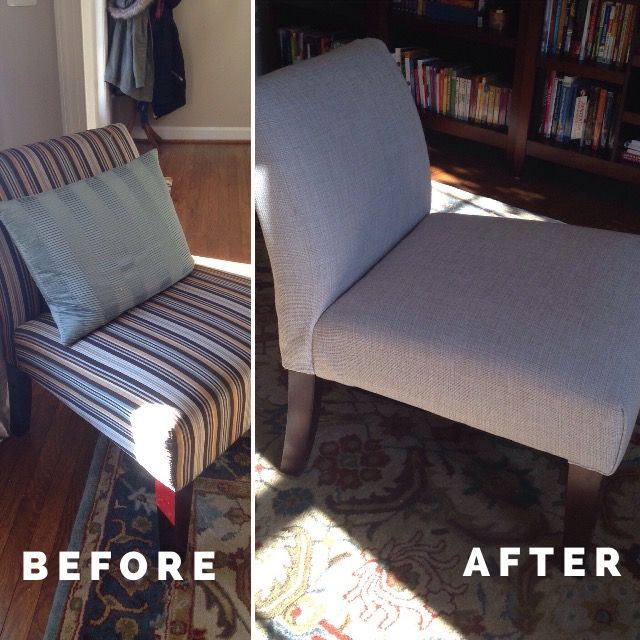 A step-by-step guide to reupholstering slipper chairs!