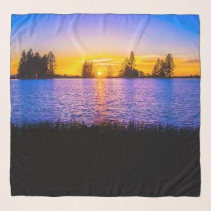 Sunrise at the beach scarf - accessories accessory gift idea stylish unique custom