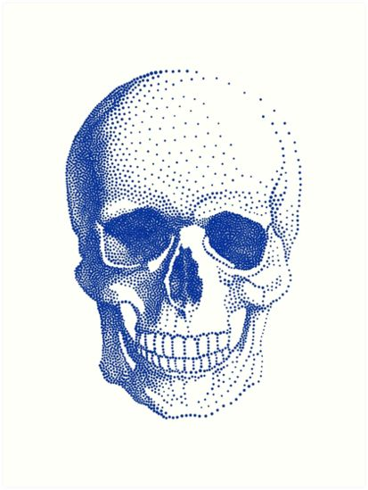 For a classier take on the skull motif, this blue print from Redbubble is perfect. #skeleton #skull #halloween