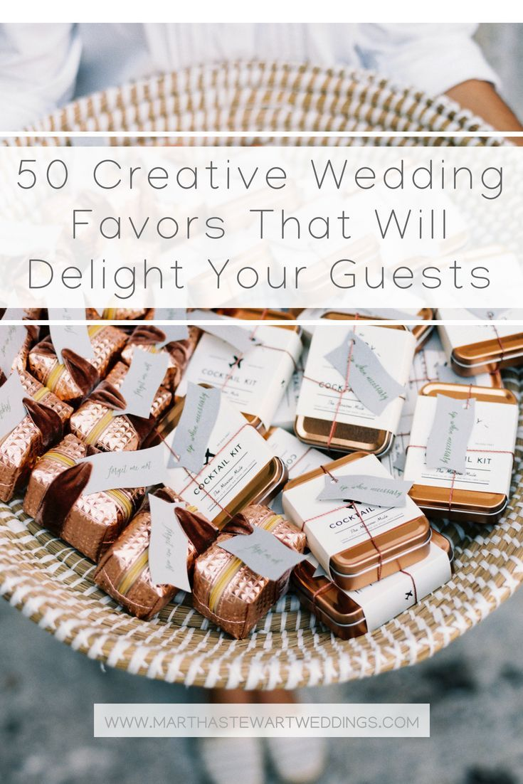 50 Creative Wedding Favors That Will Delight Your Guests With