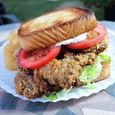Oklahoma: Chicken Fried Steak Sandwich from Cattleman's - Photo courtesy of unorthodoxpicure.com