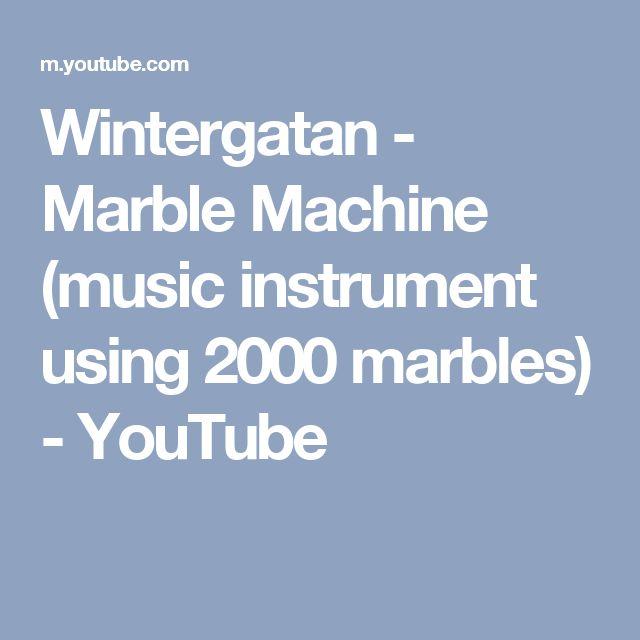 Wintergatan - Marble Machine (music instrument using 2000 marbles) - YouTube