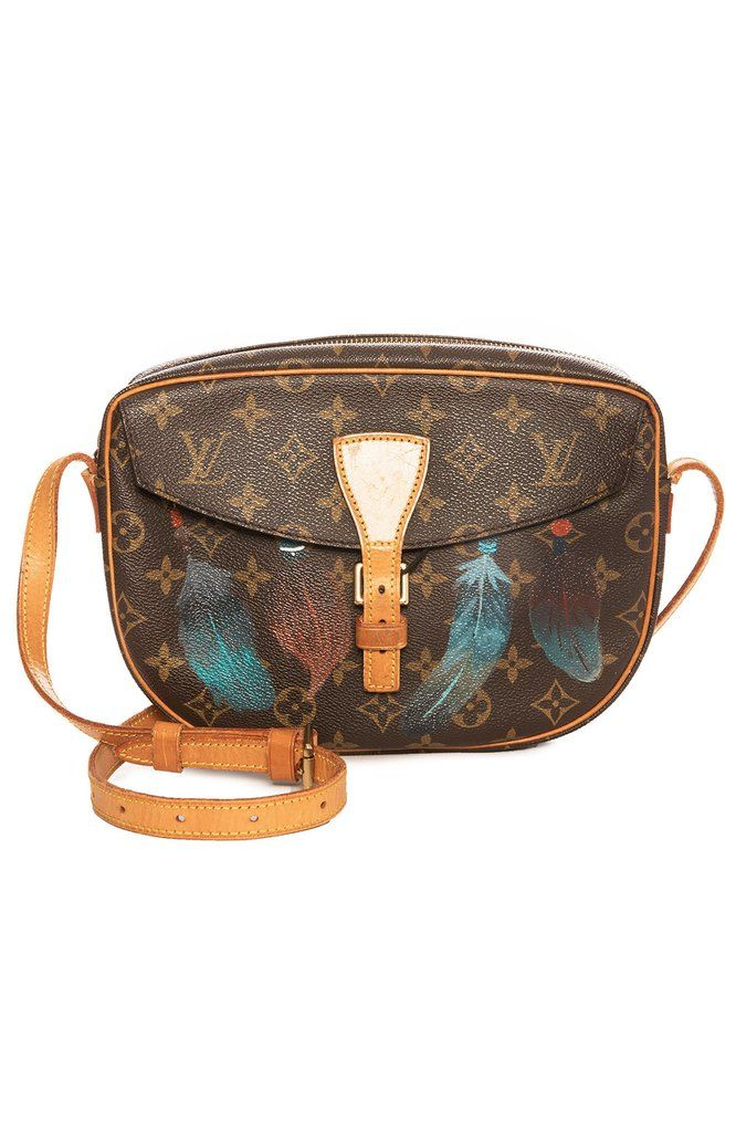 6c689844b680 Vintage LV Jeune Fille Feathers Crossbody Bag in 2018