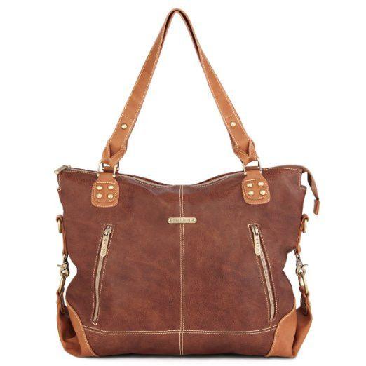 """Kate"" 7 Piece Diaper Bag Set, Copper/Saddle"
