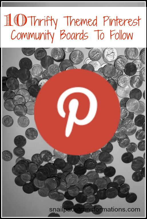 Looking to live a thrifty lifestyle so you can pay off debt, or reach another financial goal. Here are 10 community Pinterest boards you are going to want to follow so you can learn all the thrifty living tricks.