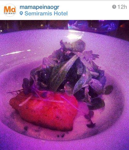 Φρέσκος μπακαλιάρος tempura & μαγιονέζα με σόγια, λάιμ & κόλιανδρο / Photo by #food portal mamapeinao.gr from Food & #Wine Experience at #Semiramis #Restaurant