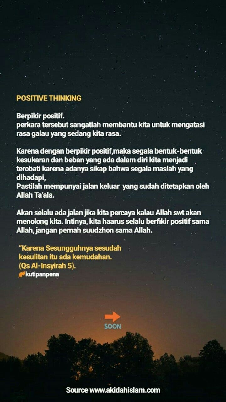 Quotes Positive Thinking Bahasa Indonesia 2