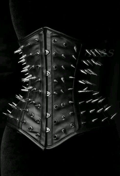 Spiked corset. Goth fashion