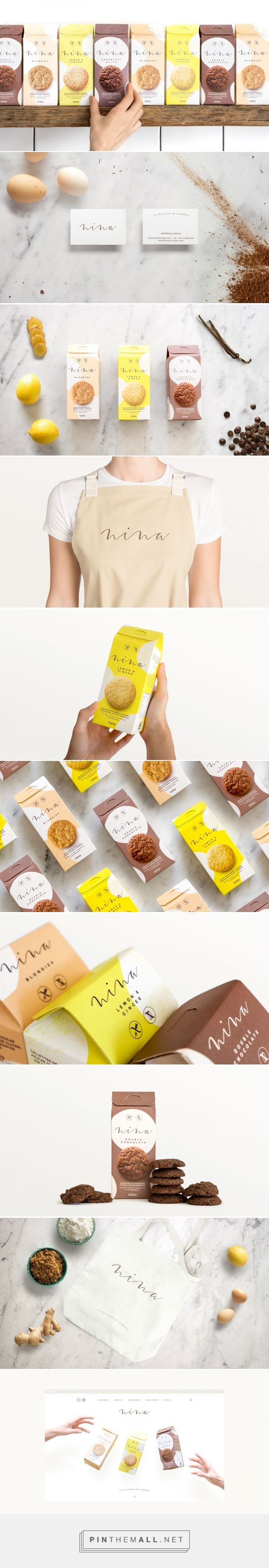 Nina cookies packaging design by Asís - http://www.packagingoftheworld.com/2017/12/nina.html