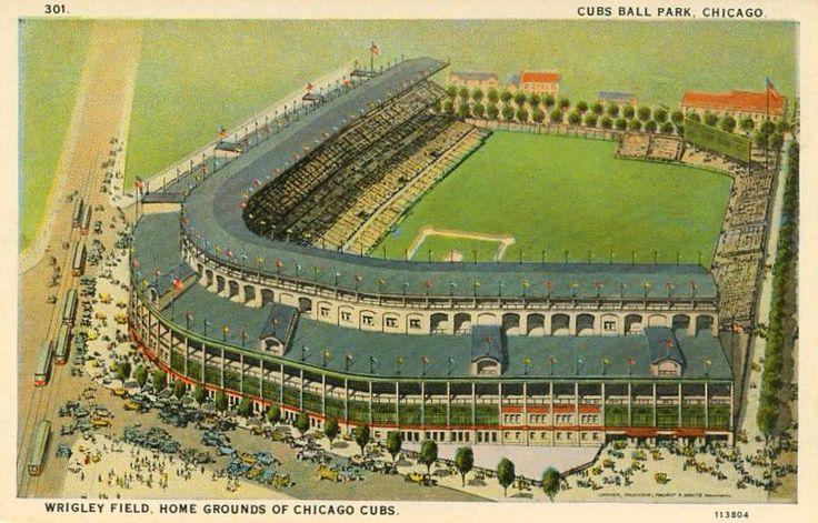 1920s postcard of Chicago's Wrigley Field