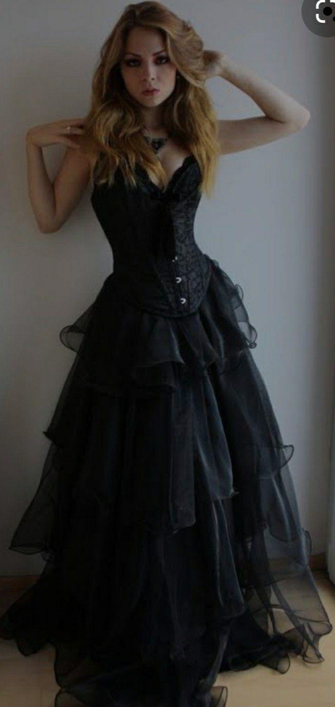 Pin By Jesse Stockfeld On Black Wedding Dresses Corset Dress Prom Lace Sweetheart Wedding Dress Elegant Prom Dresses [ 1380 x 654 Pixel ]
