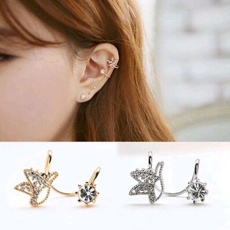 Fashion cute bird earrings created diamond ear clip without pierced ear clip jewelry accessories wholesale women's fashion