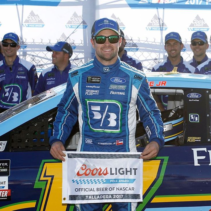 Double tap to congratulate @stenhousejr on his first #CoorsLightPole at @talladegasupers! #NASCAR #talladega  May 7, 2017