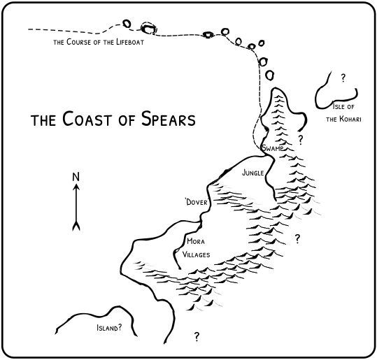 a map for my upcoming novel, Coast of Spears
